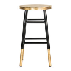 Safavieh Emery Dipped Gold Leaf Counterstool Black