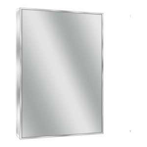 Spectrum Chrome Wall Mirror, 24 X 30