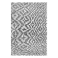 Hand-Tufted Trellis Rug, Gray, 4'x6'