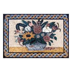 """Mozaico - Mosaic Wall Art, Flora Flora, 41""""x42"""" - Tile Murals"""
