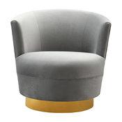 Noah Grey Swivel Chair