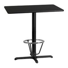 24-inchx42-inch Back Laminate Table X-Base