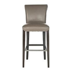 "Safavieh Mercer Collection 30"" Seth Clay Leather Adjustable Bar Stool"