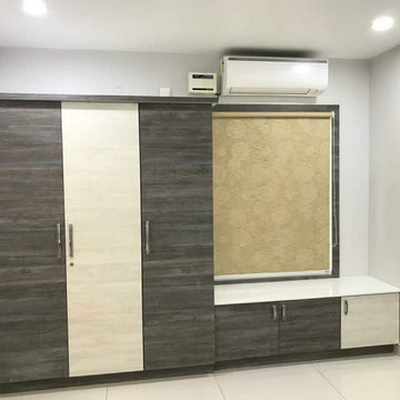 Low Cost Interiors for Duplex villa with 3BHK