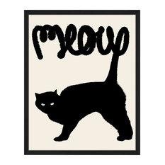 """""""Cat's Meow"""" Framed Art Print, 45x55 Cm"""