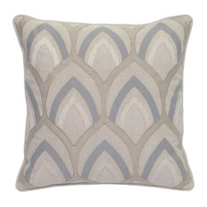 """Hilary Embroidered 18"""" Throw Pillow, Natural by Kosas Home"""