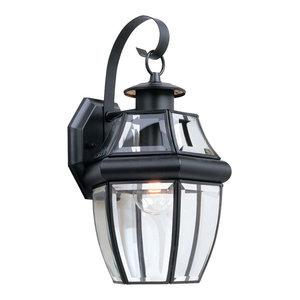 Sea Gull Lighting 1-Light Outdoor Lantern, Black