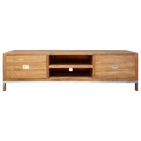 Recycled Teak Wood Stella Media Center With 2 Drawers