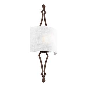 Tilling 1 Light Bathroom Vanity Light in Weathered Iron