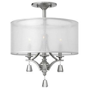 Mime Brushed Nickel Semi-Flush Ceiling Light