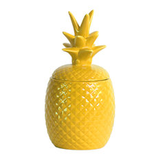 Urban Trends Ceramic Canisters With Yellow