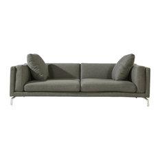 Kardiel - Basil Modern Contemporary Sofa, Cadet Gray, Material: Cashmere - Sofas