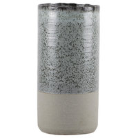 Ceramic Vase, Coated Rough Finish, Sage Green