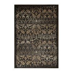 "Rizzy Home Chateau 3'3""x5'3"" Area Rug, Black/Brown/Ivory"
