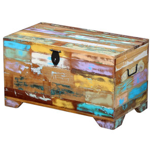 vidaXL Solid Reclaimed Wood Storage Chest