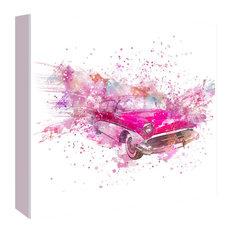 """Retro Car Color Splash, Square, 30""""x30""""x1.5"""""""