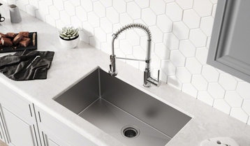 Up to 75% Off Kitchen Sinks and Faucets