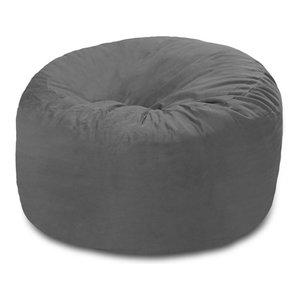 Memory Foam Bean Bag Chair, 4' Chill Sack - Contemporary