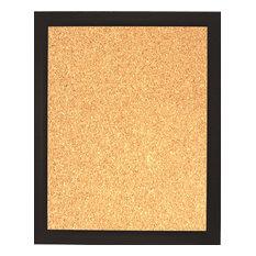 "Framed Cork Board 20""x24"", With Espresso Finish Frame"