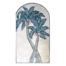 "Mosaic Patterns, Palm In Arch, 24""x43"""