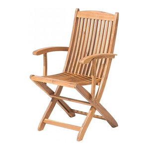 Maui Light Brown Wooden Folding Garden Chair