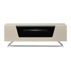 Dorel - Chromium TV Unit, Ivory, 100 cm - TV Stands & Units