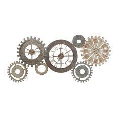 - Horloges rouages en métal L 164 cm MÉCANISME - Horloge Murale