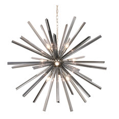 Stella Starburst Large Sputnik Chandelier With Gray Glass Rods, 46""