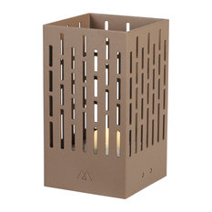 La Lampe Pose Latticed Solar Lamp, Coffee