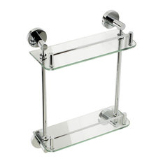 Alfi Brand Polished Chrome Wall Mount Double Shelf Bathroom Accessory