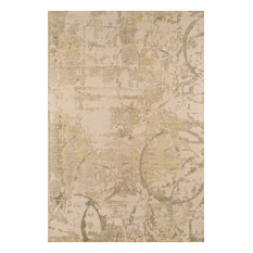 Contemporary Illusions Area Rug, Olive Green, 8'x11' Rectangle