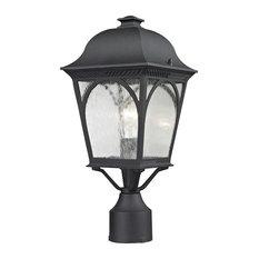 Cape Ann 1-Light Post Mount Lantern, Matte Textured Black, Small