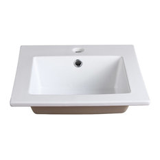 """Allier Integrated Sink/Countertop, White, 16"""""""