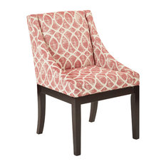 Office Star Products Monarch Wingback Chair Mist Geo Brick Dining Chairs