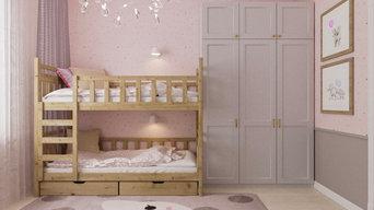 Детская комната для девочек 2 и 7 лет