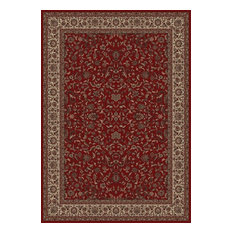 """Persian Classics Premium Stair Treads, Red/Border Color Ivory, 2'2""""x9"""""""