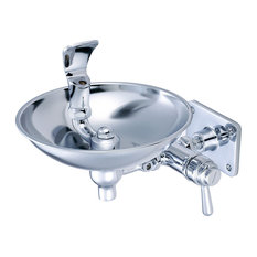 Central Brass Wall Mounted Drinking Fountain
