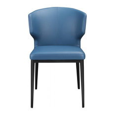 Moe's Delaney Dining Side Chair In Steel Blue (Set Of 2)