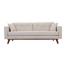 Frey Sofa, White Linen
