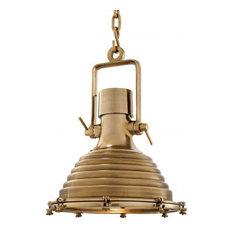 "INDUSTRIAL GOLD LAMP   EICHHOLTZ MARITIME, gold, 19""W x 19""D x 26""H"