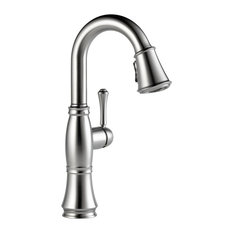 Delta Cassidy Single Handle Pull-Down Bar / Prep Faucet, Arctic Stainless