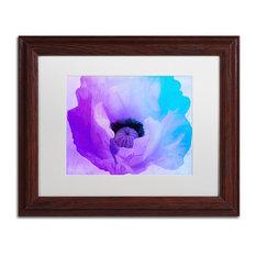 """Color Bakery 'Poppy Gradient IV' Art, Wood Frame, White Matte, 14""""x11"""""""