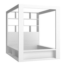 Modern 4-Poster Bed With Storage by Vox