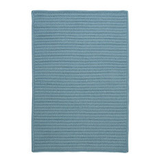 Colonial Mills, Inc - Braided Simply Home Solid, 10', Area Rug, Federal Blue, Square 10' - Outdoor Rugs