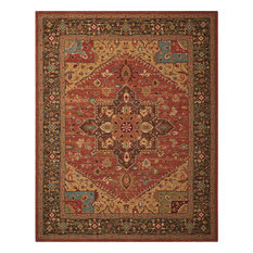 Living Treasure LI01 Rug, Rust, 107x168 cm