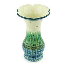 """Polmedia Polish Pottery 9"""" Stoneware Vase"""