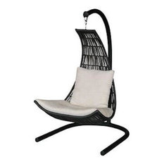 Misima Swing With Seat Cushion, Neo Golden Brown, Jockey Red