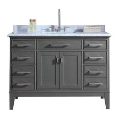 Ari Kitchen and Bath - Danny Single Bathroom Vanity Set, Gray, 48