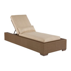 A.R.T Arch Salvage Outdoor Florence Wicker Chaise Lounge, Tobacco 933505-4124