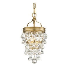 Crystorama Calypso 1-Light Vibrant Gold Mini Chandelier